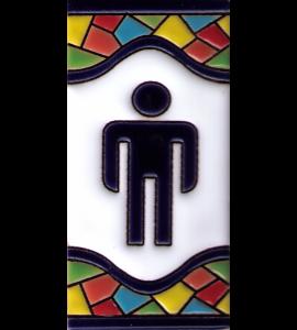 WC Herren Gaudi Dekor