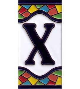 Buchstabe X Gaudi Dekor