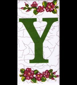Buchstabe Y Dekor Butterfly