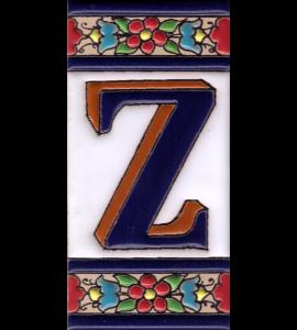 Buchstabe Z Blumen Dekor